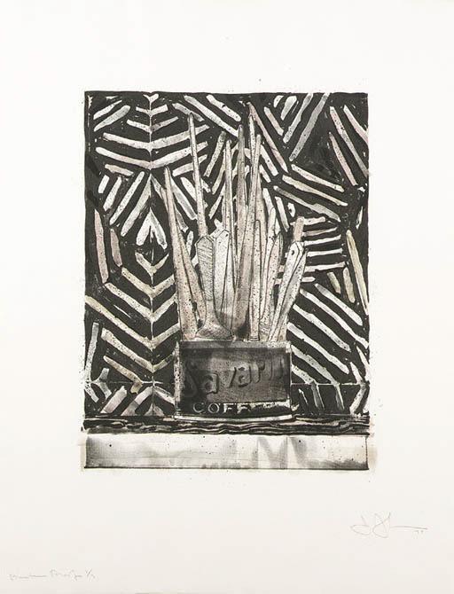 Jasper Johns-Savarin 5 (corpse And Mirror) (ulae 195)-1978