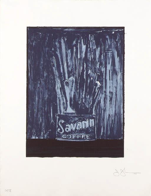 Jasper Johns-Savarin 6 (Blue) (ULAE 198)-1979
