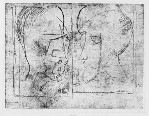 Marcel Duchamp-Joueurs d'echecs (The Chess Players) (S. 621a)-1965