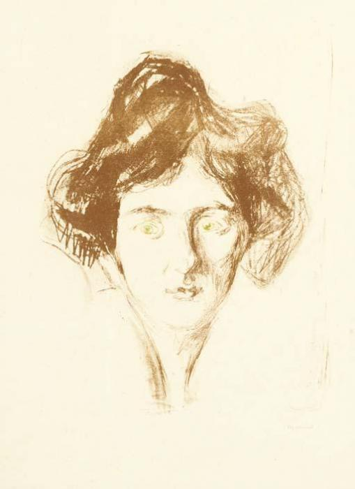 Edvard Munch-The Model from Berlin / Berliner Modell (Sch. 253; W. 461)-1914