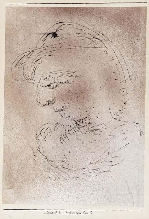 Paul Klee-Bildnis Skizze Frau Pr (Study Portrait Of Mrs Pr)-1925
