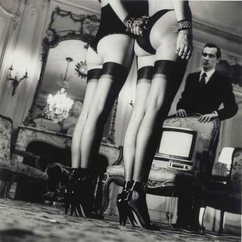 Helmut Newton-Two Pairs of Legs in Black Stockings-1979