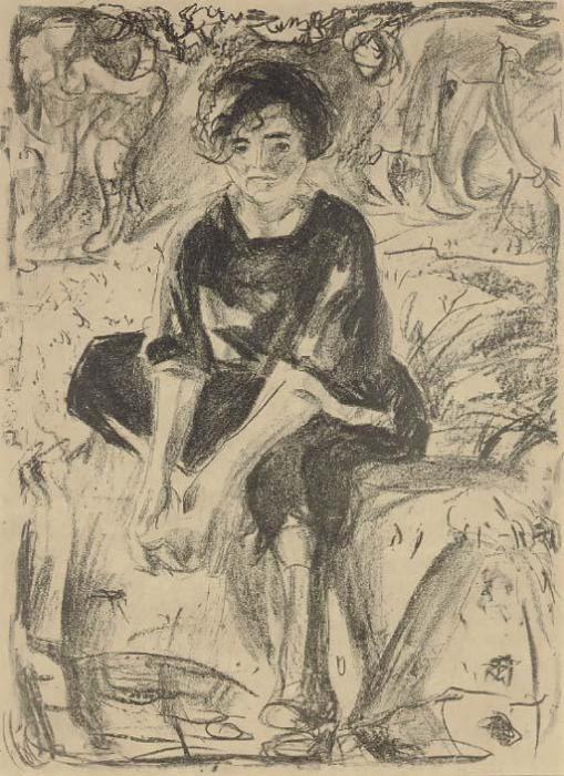 Edvard Munch-Footbath (Sch. 482; W. 646) / Fotvask-1920