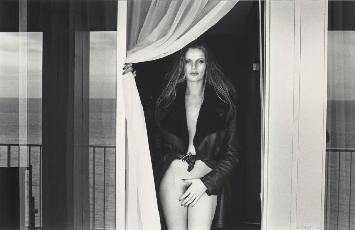 Helmut Newton-Portrait Of Veruschka On The Terrace Of The Presidential Suite, Hotel Meridian, Nice-1975