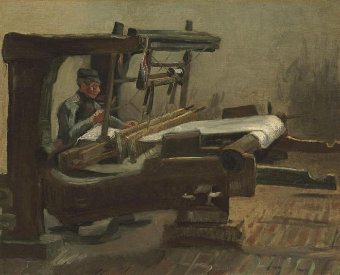 Vincent van Gogh-Weaver-1884