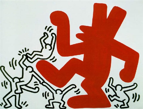 Keith Haring-Keith Haring - Big Red Dog-1984