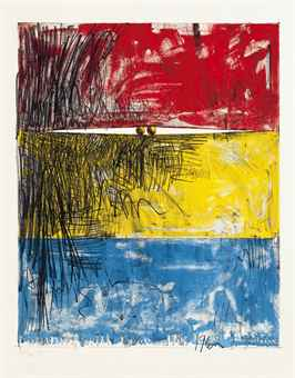 Jasper Johns-Painting with two balls, Ulae 8-1962