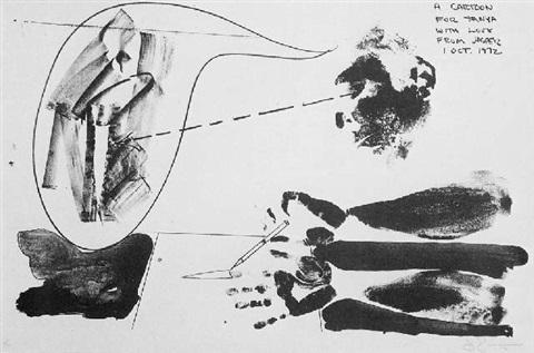 Jasper Johns-A Cartoon for Tanya-1972