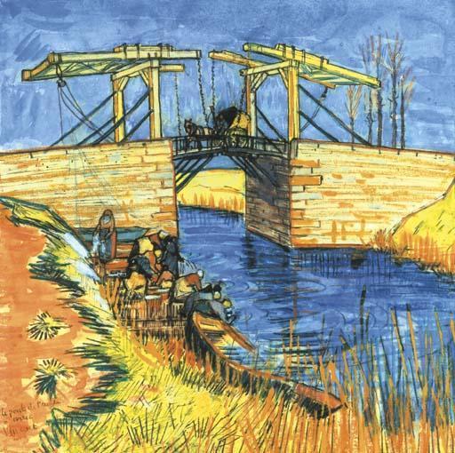 Vincent van Gogh-Le pont de L'Anglais a Arles-1888