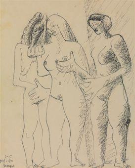 Le Corbusier-Trois femmes-1950