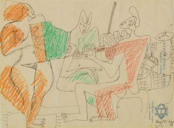 Le Corbusier-Quatre musiciens-1950