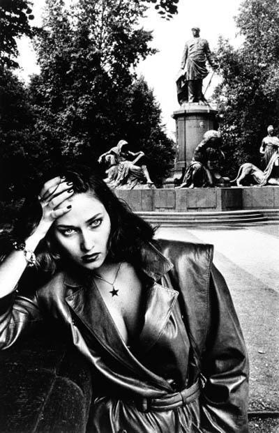 Helmut Newton-Young Woman and Bismarck Monument, Berlin-1979