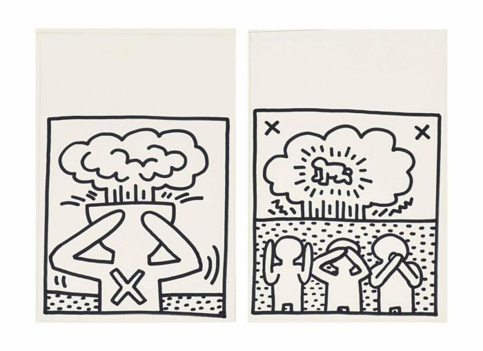 Keith Haring-Keith Haring - Drawings for Atomic Book-1983