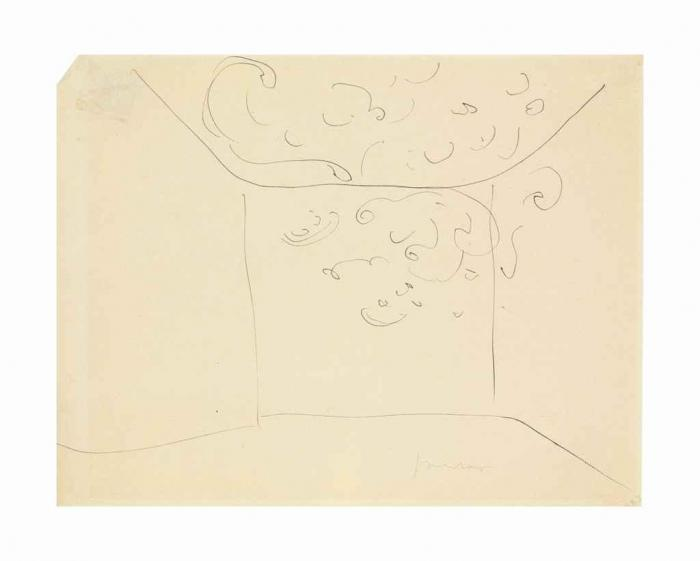 Lucio Fontana-Ambiente spaziale-1951