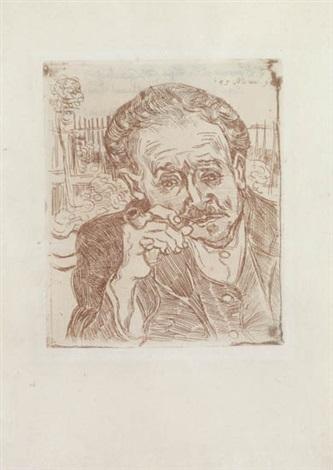 Vincent van Gogh-Homme a la pipe, ou Portrait du docteur Gachet-1890