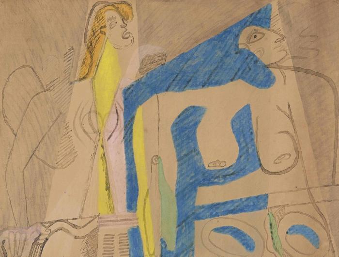 Le Corbusier-Femmes a table-1942