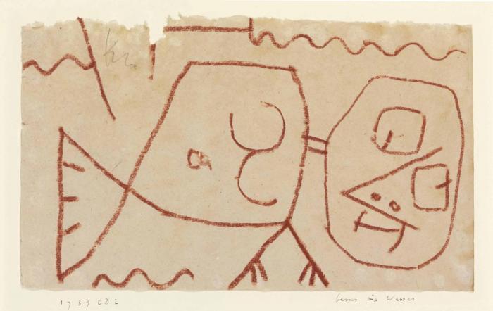 Paul Klee-Besser ins Wasser-1939
