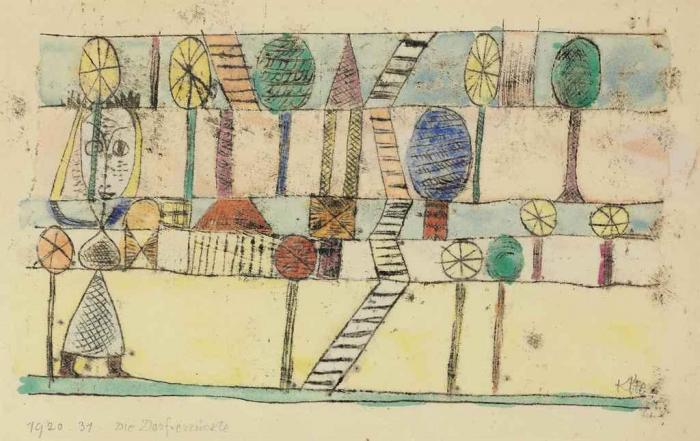 Paul Klee-Die Dorfverruckte-1920