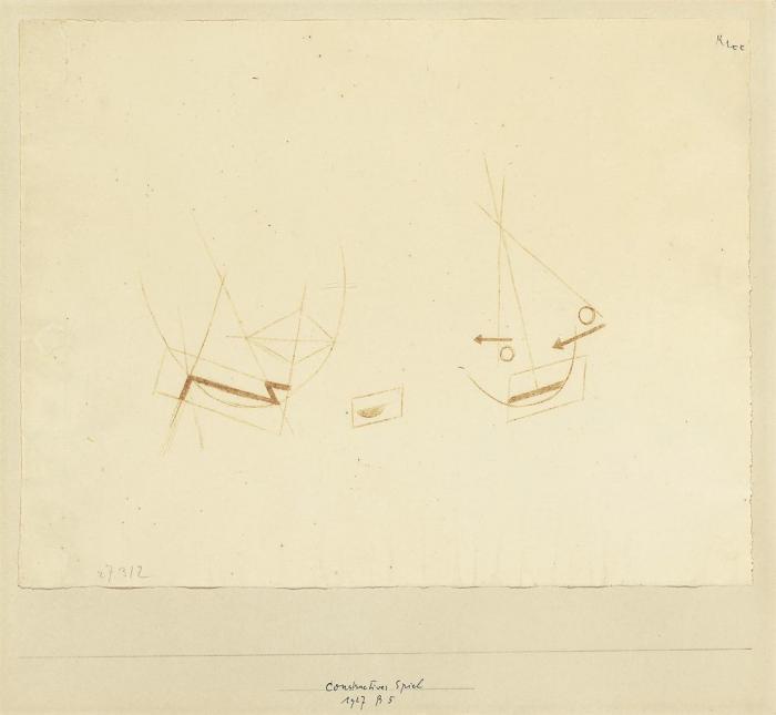 Paul Klee-Constructives Spiel-1927
