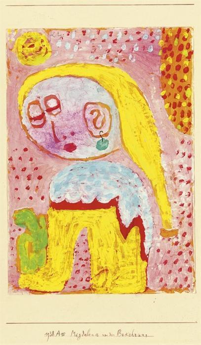 Paul Klee-Magdalena Kury Vor Der Bekehrung-1938