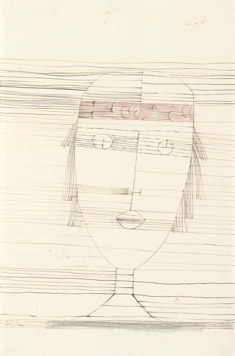 Paul Klee-Madchen Mit Stirnband-1929