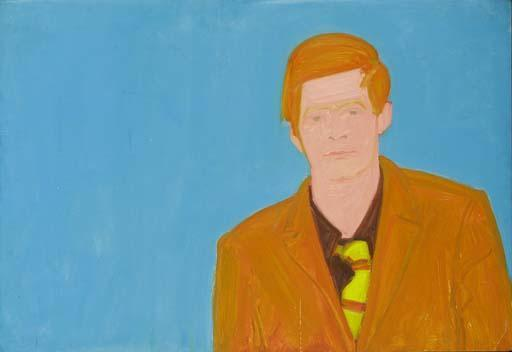Alex Katz-Portrait of Red Grooms-1960