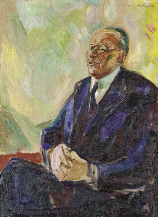 Edvard Munch-Bildnis Senator Brunings-1919