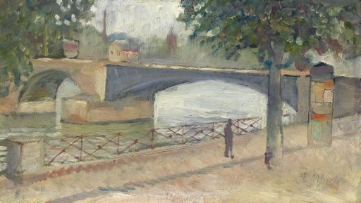 Edvard Munch-Vue de la Seine a Saint-Cloud-1890