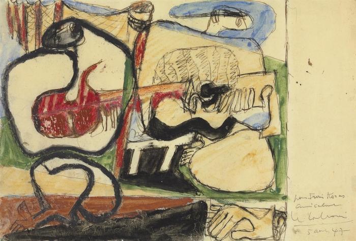 Le Corbusier-Guitaristes sur la plage-1947