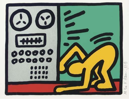 Keith Haring-Keith Haring - See no Evil, Hear no Evil, Speak no Evil: one Plate-1989