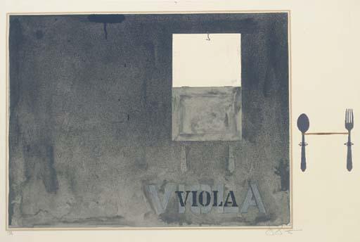 Jasper Johns-Viola (ulae 117)-1972