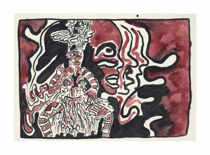 Keith Haring-Keith Haring - Grace Jones at Paradise Garage-1986