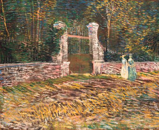 Vincent van Gogh-L'entree du parc de Voyer-d'Argenson a Asnieres-1887