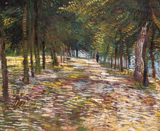 Vincent van Gogh-L'avenue du parc de Voyer-d'Argenson a Asnieres-1887