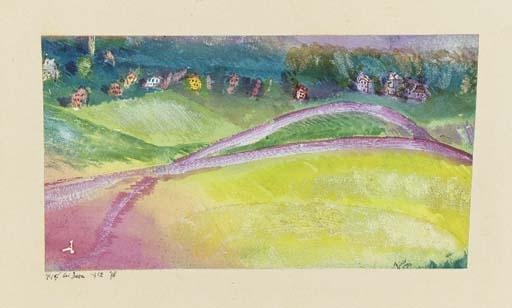 Paul Klee-Dorf Bei Bern (Village By Bern)-1912
