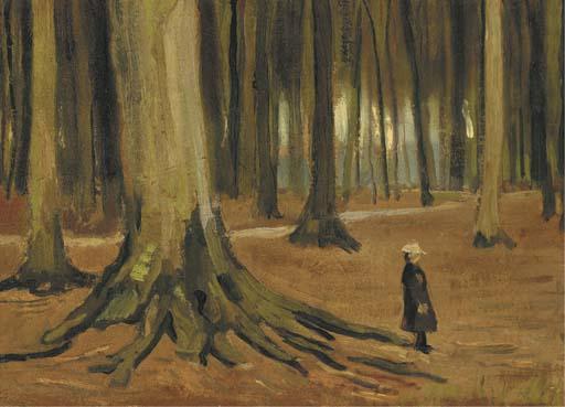 Vincent van Gogh-Girl in a Wood-1882
