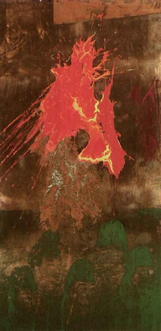 Robert Rauschenberg-Robert Rauschenberg - Five wise men because of one tilted tiger-1986