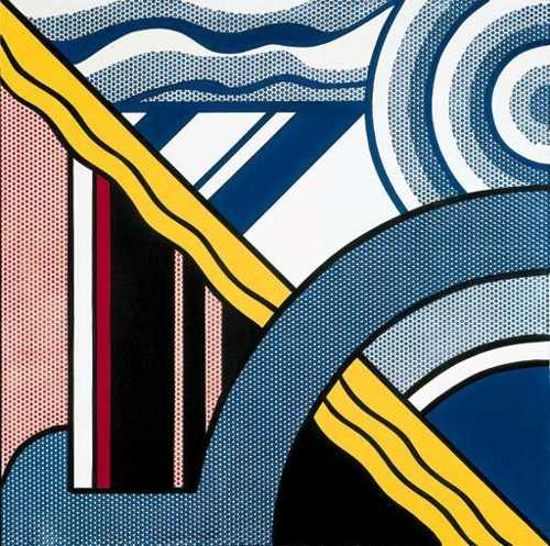 Roy Lichtenstein-Modern Painting with Target-1967