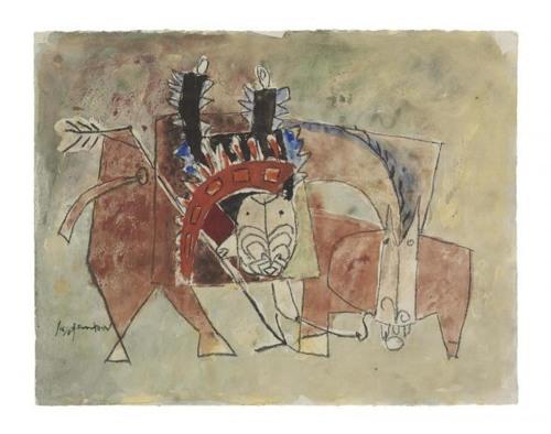 Roy Lichtenstein-The End of the Trail-1951