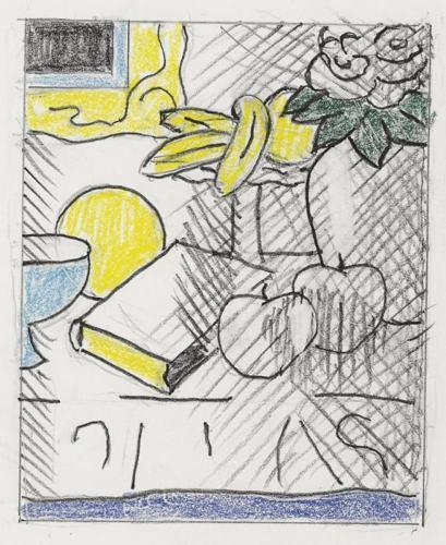 Roy Lichtenstein-Guggenheim Magazine (study)-1993