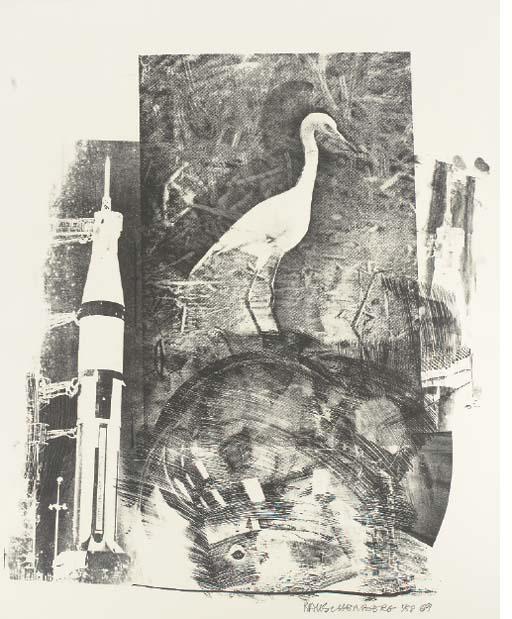 Robert Rauschenberg-Robert Rauschenberg - Horn, from Stoned Moon Series-1969