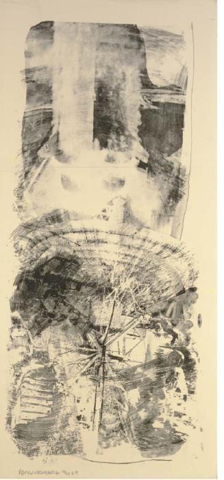 Robert Rauschenberg-Robert Rauschenberg - Waves (From Stoned Moon Series)-1969