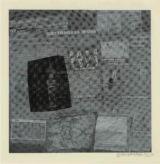 Robert Rauschenberg-Robert Rauschenberg - Surface Series (From Currents) (F. 109 and F. 116)-1970