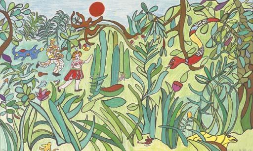 Niki de Saint Phalle-(i) Le Jungle I; (ii) Le Jungle II-1994