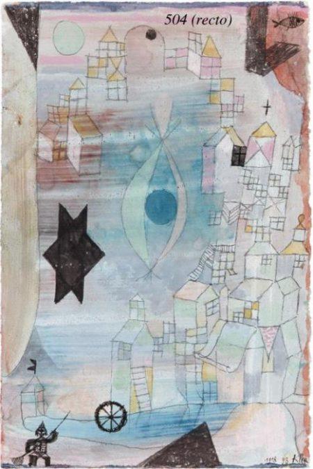 Paul Klee-Mit Dem Netzfischer/ Zeichnung-1918