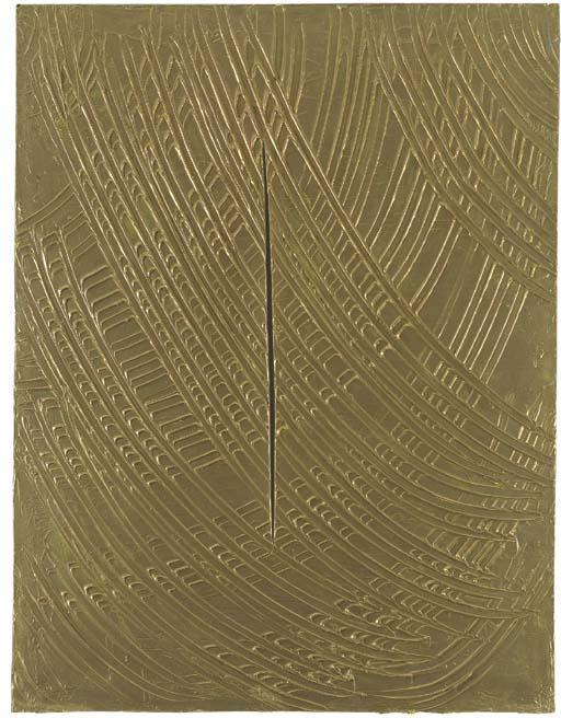 Lucio Fontana-Coupure-1961