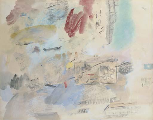 Robert Rauschenberg-Robert Rauschenberg - Vacation (Combine Drawing)-1961