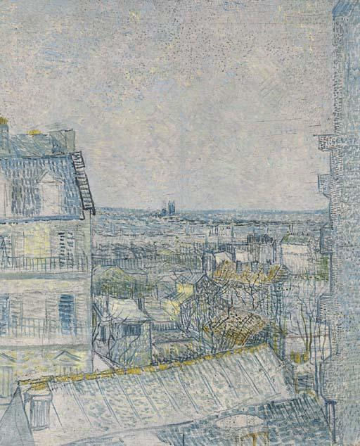 Vincent van Gogh-View from Vincent's Window-1887