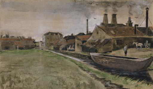 Vincent van Gogh-The Iron Mill in the Hague-1882