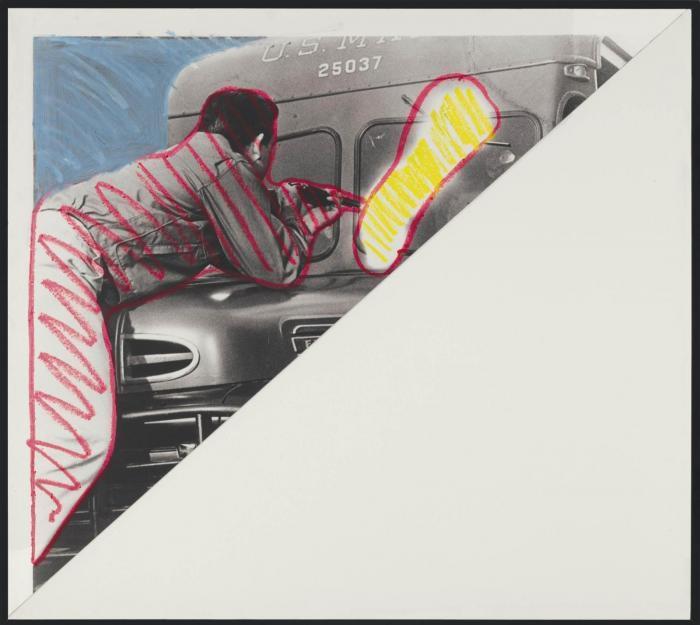 John Baldessari-Man Shooting at Truck-1984